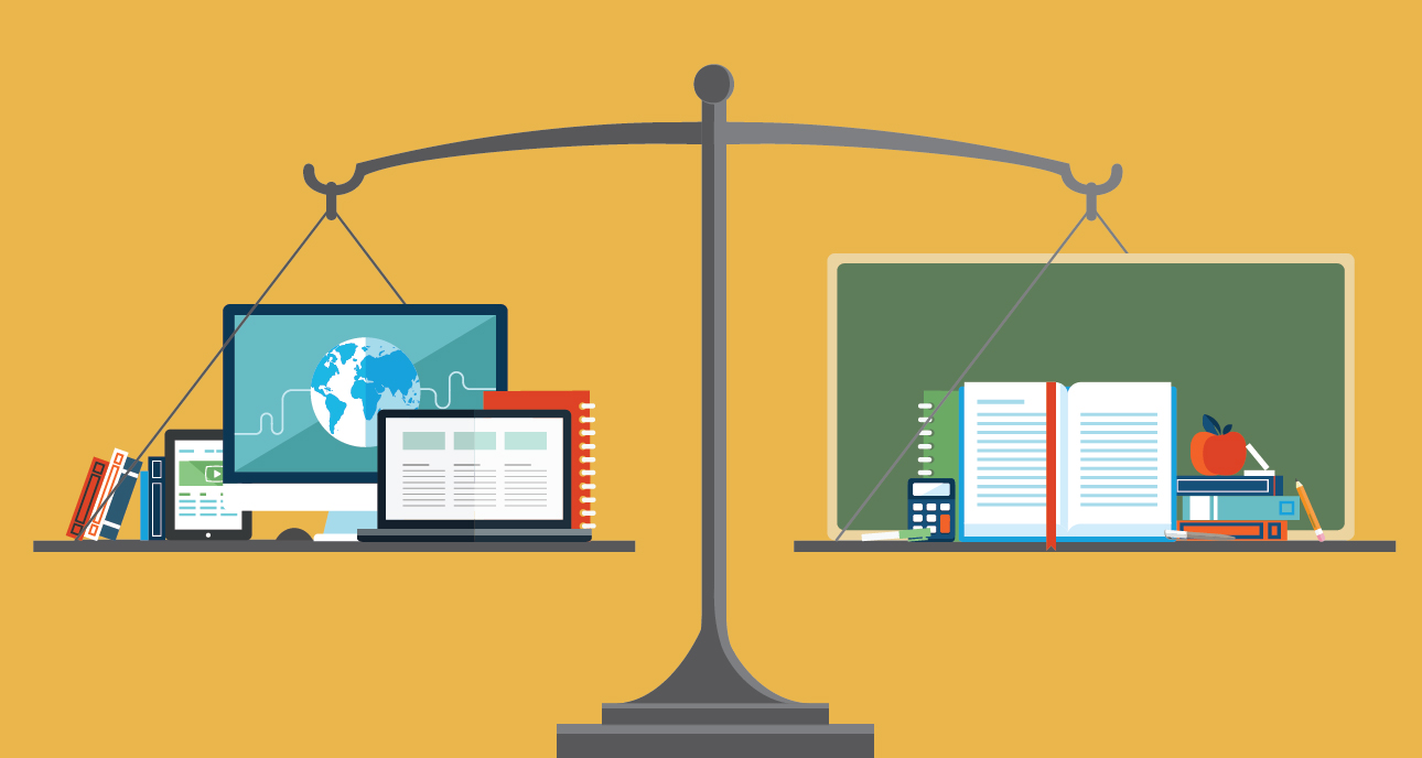 online education versus traditional education Traditional education: face-to-face or traditional education describes the most common classroom-type environment these terms describe students who regularly attend classes in the traditional classroom environment.