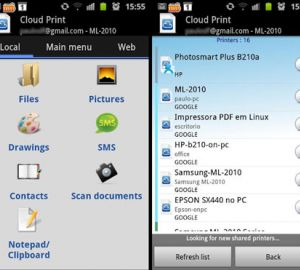 Cloud Printing For Android