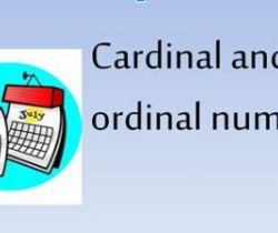 Exercise on how to write numbers (Cardinal and Ordinal form)