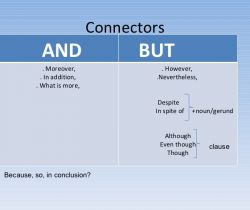 "Simple connectors ""and"" ""but"" and ""because"""