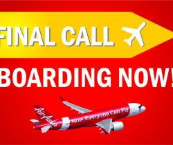 Final call for boarding