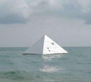 Floating Pyramid Art Work