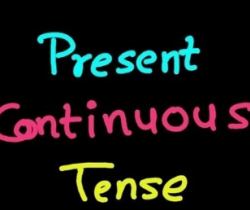 Gerry is getting tense! (Exercises in Present Continuous Tense)