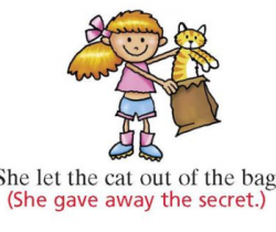 The cat's out of the bag (Idioms)