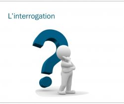 The interrogation: Asking a question