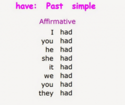 Tenses-2 Past Simple of 'To have' & 'To do'