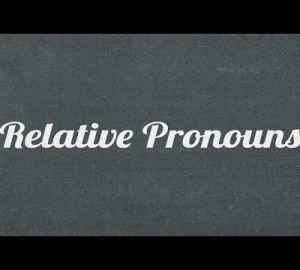 Relative pronoun 2